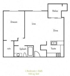 A3 Floorplan at Timbercreek Apartments