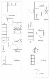 Caspian Floor Plan at Larkspur, Larkspur, CA, 94939