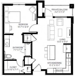 georgetown active 55+ 1 bedroom apartments for rent