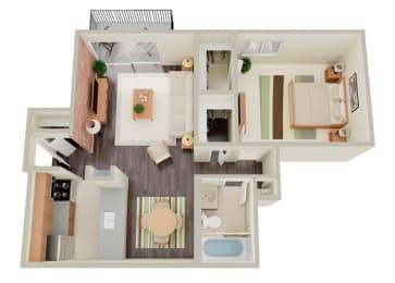 1x1 floor plan image