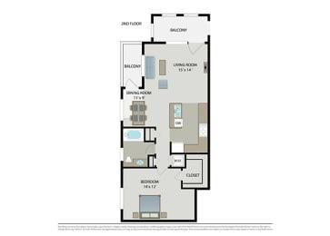 Floor Plan Midtown – Flat