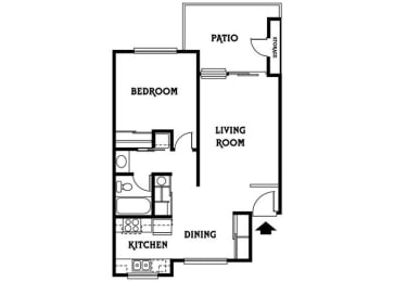 Residence A 618sf