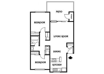 Residence D 2x1 844 sf