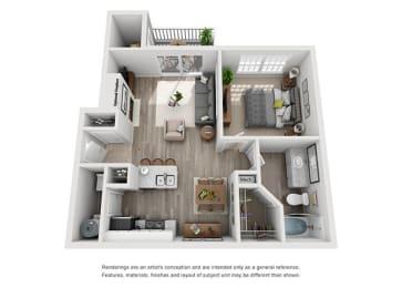 A1.1ar Floor Plan at Addison Park, North Carolina