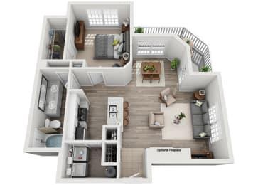 A2.1ar Floor Plan at Addison Park, North Carolina