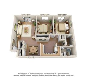 Floor Plan 2 Bedroom (Large)