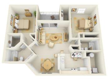 Brisa B1 Floor Plan |Bay Breeze Villas
