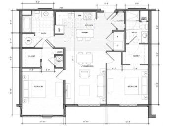 2BR C Floor Plan| Merc
