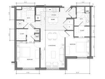2BR-G Floor Plan| Merc