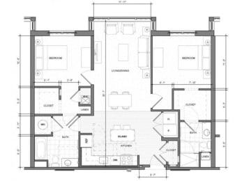 2BR-Standard Floor Plan| Merc