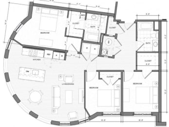 3BR-B Floor Plan| Merc