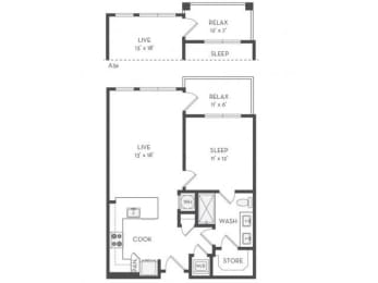 A2 Floor Plan| District of Rosemary