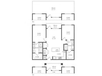 B2 Floor Plan |District of Rosemary