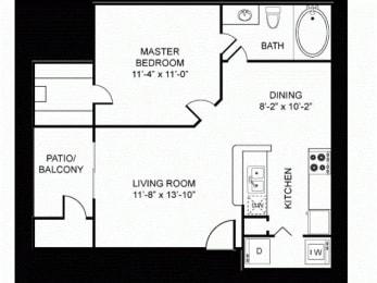 A1-SilverPackage Floor Plan |Walnut Creek