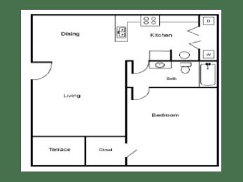 A1 Floor Plan |Village Place