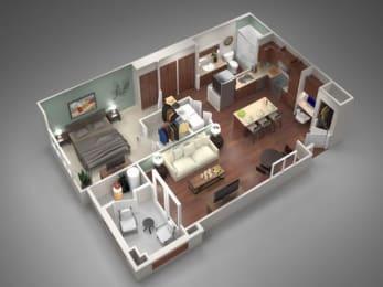 1B Floor Plan| Villas at San Dorado