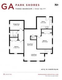 Park Shores - Three Bedroom Floorplan GA