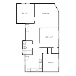 The Pelham - Three Bed Floorplan