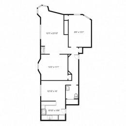 The Pelham - Two Bed Floorplan