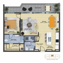 Floor Plan Alexandrite (1b/1.5b)