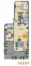 Floor Plan Amber (2b/2b)