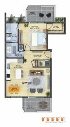 Floor Plan Amethyst (1b/1b)