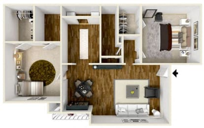 Floor Plan  2 Bedroom/2 Bath