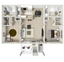 Floor Plan Two Bedroom Split