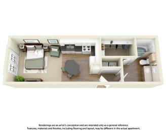 Floor Plan E2 Studio