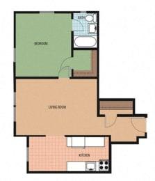 Belmont Floor Plan at Park Marconi, Washington
