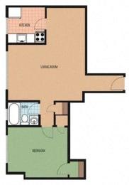 Kilbourne Floor Plan at Sarbin Towers, Washington