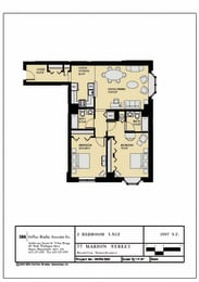 Floor plan at Marion Square, Brookline, 02446