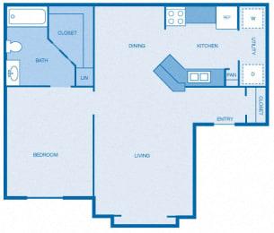 Floor Plan 1BR|1BA