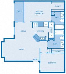 Floor Plan 2BR|2BA