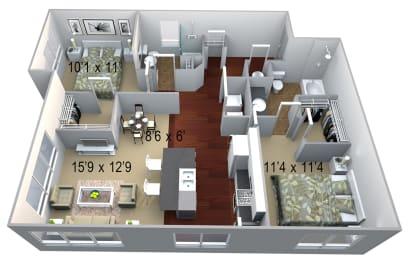 Walton Westside B2 Floor Plan