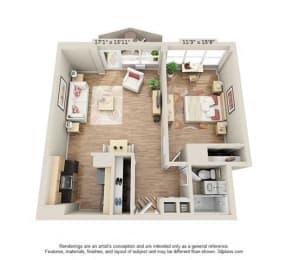 Floor Plan One bedroom 2