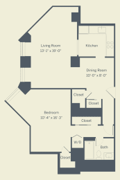 A2 Floor Plan at The Franklin Residences, Pennsylvania