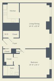 A7 Floor Plan at The Franklin Residences, Philadelphia, PA