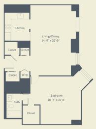 A8 Floor Plan at The Franklin Residences, Philadelphia, Pennsylvania