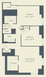 B1 Floor Plan at The Franklin Residences, Philadelphia, PA, 19107