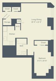 E2 Floor Plan at The Franklin Residences, Pennsylvania, 19107