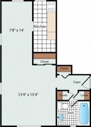 Efficiency Floorplan at Olde Salem Village