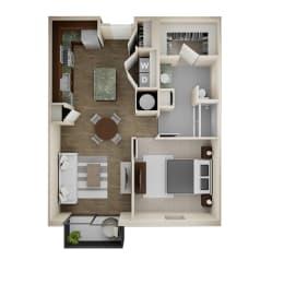 Floor Plan 1 Bed/1 Bath - 1A