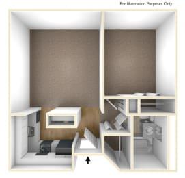 One Bedroom Floor Plan Moorhead Tower Apartments