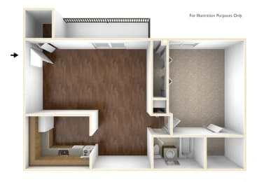 One Bedroom Apartment Floor Plan Rolling Green Apartments