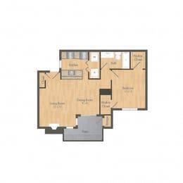 SummerGrove 1 Bedroom Floor plan