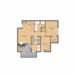 Summer Grove 2 bedroom floor plan