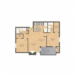 SummerGrove 2 bedroom floor plan
