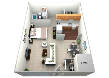 Floor Plan  Studio Floorplan , at Brook View Apartments, Baltimore, Maryland