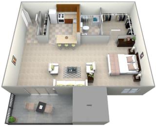 Floorplan for studio, at 101 North Ripley Apartments, 22304, VA
